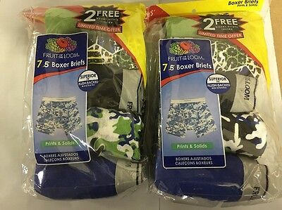 Fruit Of The Loom Boys 14 Pack Boxer Briefs Prints & Solids Size Small