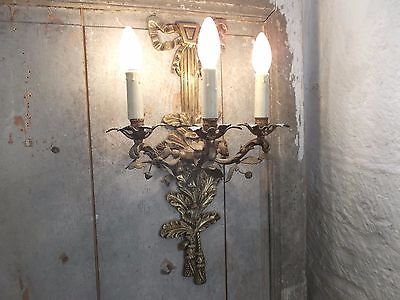 French stunning single wall light awesome - antique ornately bronze