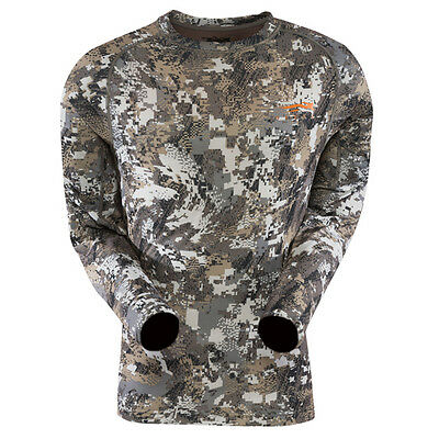 Sitka CORE LIGHTWEIGHT Crew Long Sleeve Elevated II Large NEW U.S. FREE SHIPPING
