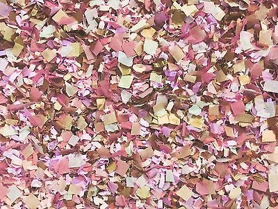 Dusky Pink Gold Rose Gold Copper Wedding Confetti Guest Packs Vintage Shabby