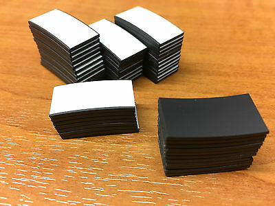 50 Self Adhesive Magnet Magnetic Strip 25 x 12.5mm Cut magnetic strip pieces