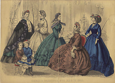 Godey's Fashions  11 outstanding prints