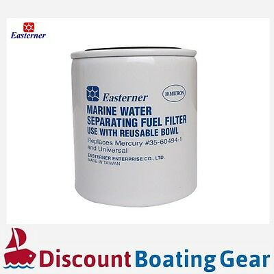 1x Replacement EASTERNER Water Separating Fuel Filter - 10 MICRON. UNIVERSAL FIT