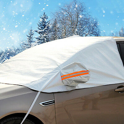 Sun UV Dust Rain Resistant Protection Waterproof Half Car Cover For SUV