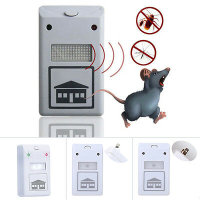 EU/US Plug Ultrasonic Pest Control Repeller Anti Rat Mosquito Insect Bug ZX