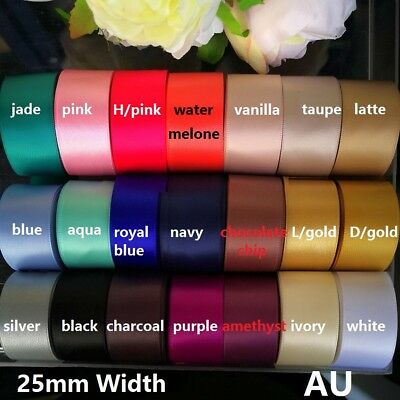 1Meter x 25mm Double Side(faced) Satin Ribbon for Wedding invitation&Hairbows.