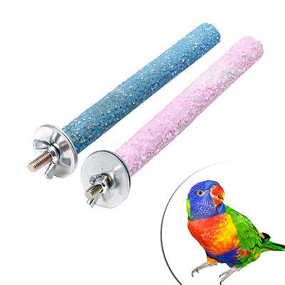 Colorful Pet Bird Chew Paw Grinding Toys Parrot Harness Cage Budgie Clean Tool