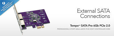 Sonnet Tempo SATA Pro 6Gb PCIe 2.0 - External SATA Connections (CLEARANCE) NEW
