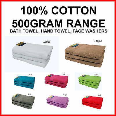 BRAND NEW 100% Cotton 500GRAM Bath Towel Hand Towel Face Washer Very Absorbent