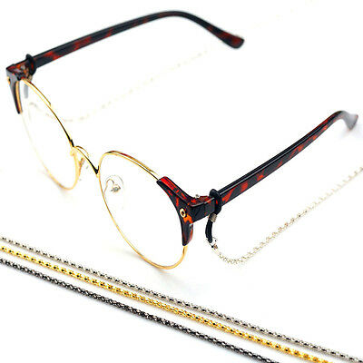 Reading Glasses Sunglasses Neck Chain Cords Holder Metal Strap Spectacles