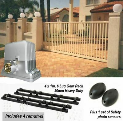 Commercial / Extra Heavy Duty Automatic Sliding Gate Opener Kit - 1,800kg
