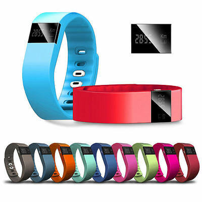 TW64 Bluetooth Smart Watch Wristband Tracker Bracelet Step For Android IOS