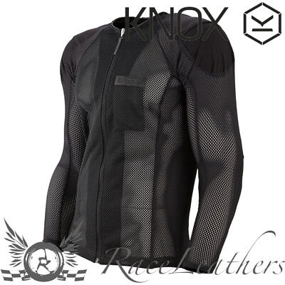 Knox Urbane Urban Black Armour Motorcycle Motorbike Protective Zip Up Shirt