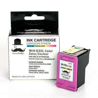 New Tri-Color Ink for HP 63XL 3830 3831 3832 3834 4650 4520 4522 3636 3633 3634