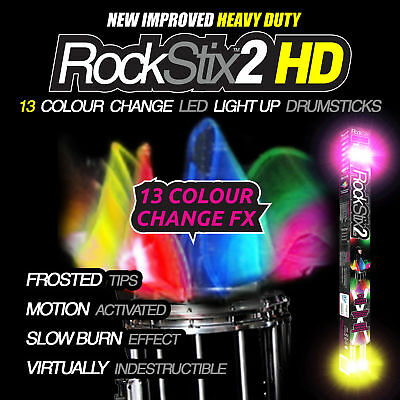 New!!! Rockstix - 13!!colour Change Led Light Up Drum Sticks