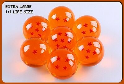 Extra Large DRAGON BALL Z Crystal Ball 1:1 Set of 7 Seven Stars New In Box