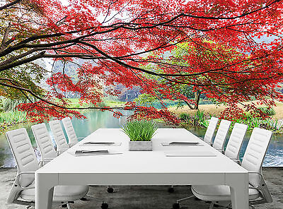 Park in Autumn Wall Mural Photo Wallpaper GIANT DECOR Paper Poster Free Paste