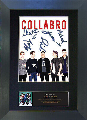COLLABRO Signed Mounted Autograph Photo Prints A4 511