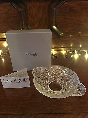 Lalique Rare Coupelle Chevrefeuille HONEYSUCKLE DISH/Bowl Signed France 1111900
