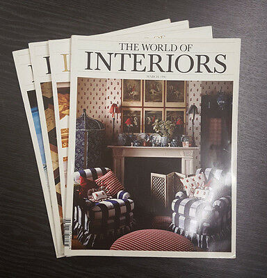 The World of Interiors Magazine - 4 Issues 1990 & 1991