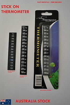 Strip Stick on Thermometer Aquarium Fish Tank DIY Home Brew Beer Barrel Reader