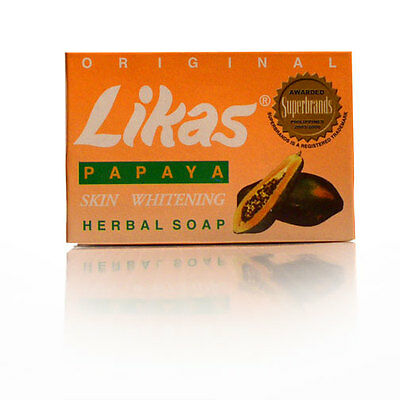 ORIGINAL LIKAS PAPAYA SOAP - HERBAL SOAP - SKIN WHITENING, LIGHTENING, 135g