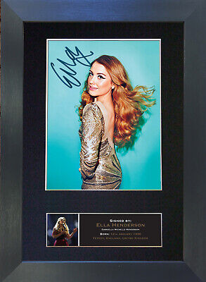 ELLA HENDERSON Signed Mounted Autograph Photo Prints A4 504