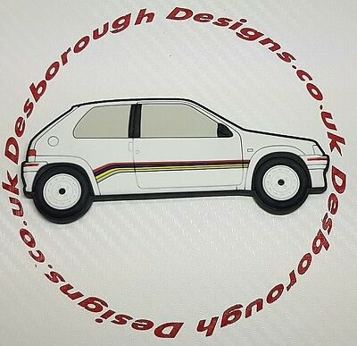 Peugeot 106 Rallye fridge magnets  White Phase 1