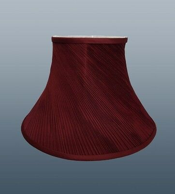 Twisted Pleat Soft Shade CRANBERRY RED Fully Lined Ceiling or Table Lamp
