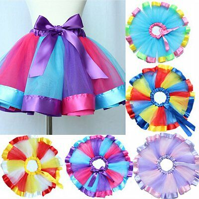 Baby Toddler Girls Tutu Party Ballet Dance Wear Dress Skirt Pettiskirt Costume