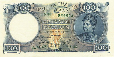 Griechenland / Greece 100 Drachmen 1944 Pick 170 (1)