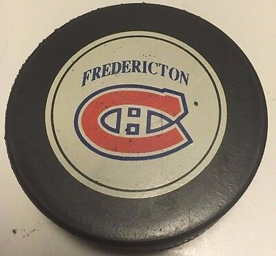 1992-93 Frederiction Canadiens Game Used Hockey Puck AHL