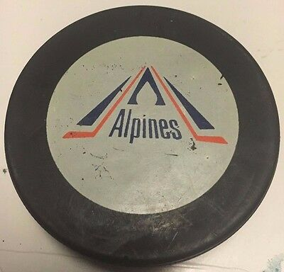 1982-83 Moncton Alpines Game Used Hockey Puck AHL