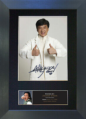 JACKIE CHAN Signed Mounted Autograph Photo Prints A4 495