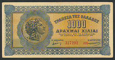 Griechenland / Greece 1000 Drachmen 1941 Pick 117 (3)