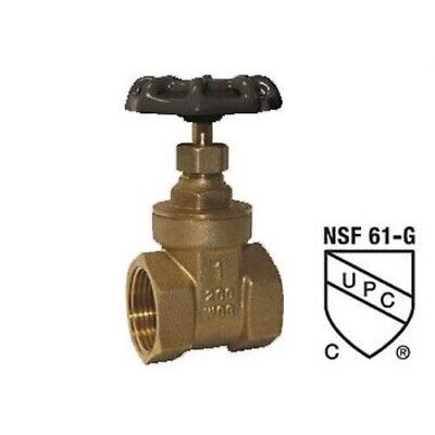 1/4 Inch Lead Free Brass Gate Valve With Female Threaded Connections