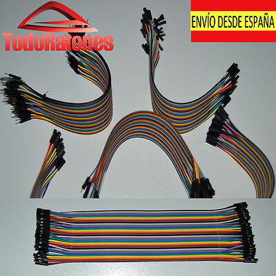 10x Dupont hembra a hembra Jumper Cable Cable conector Pi Protoboard Arduino