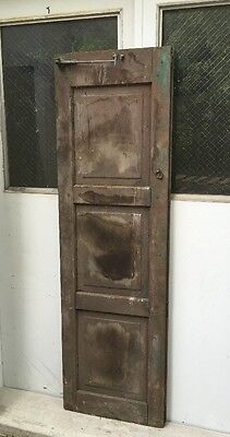 "Vtg WOOD PANEL cabinet door shutter architectural salvage Tall 67.5"" X 20.5"" W"