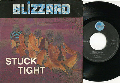"""BLIZZARD - Stuck Tight / Down-Town Rock N'Roll Discoteque 7"""" Italy GLAM ART ROCK"""