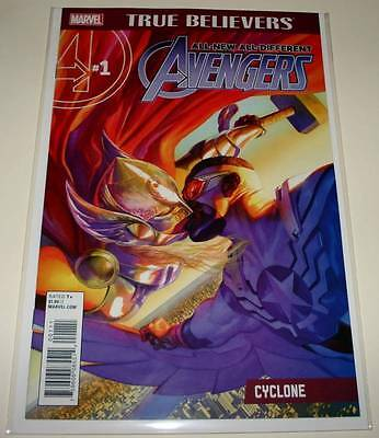 TRUE BELIEVERS : ALL-NEW AVENGERS - CYCLONE  # 1  Marvel Comic Sept 2016  NM