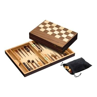 Chess Backgammon Set - with magnetic lock - Field 32 mm