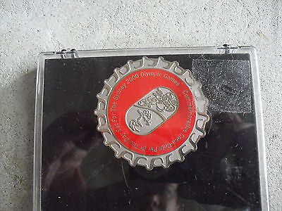 2000 Coca Cola Sydney Olympics Pin of the Day Pin Back NIB