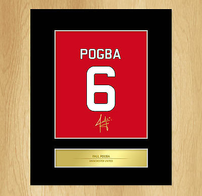 Paul Pogba Signed Mounted Artistic Photo Display Manchester United
