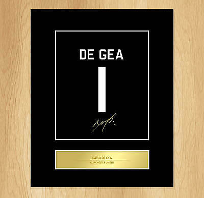David de Gea Signed Mounted Artistic Photo Display Manchester United