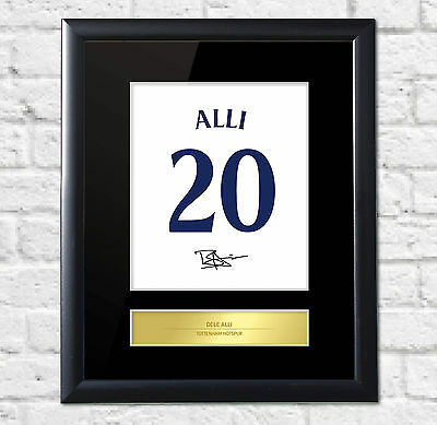 Dele Alli Signed Mounted Artistic Photo Display Spurs Tottenham