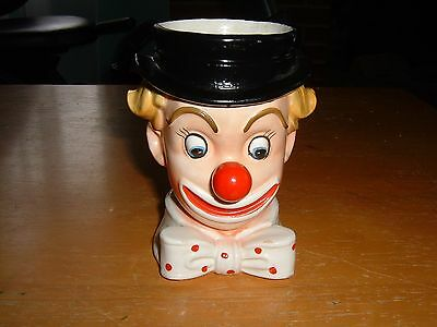 Vintage INARCO Made In JAPAN Sticker Porcelain CLOWN Head Vase E-2320