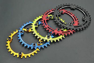 Fouriers Bicycle narrow wide Chainring bcd104mm Single circle 30T 32 38 40 46T