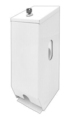 T006W Ozwashroom Double Toilet Paper Dispenser White Metal, Made of cold rolled
