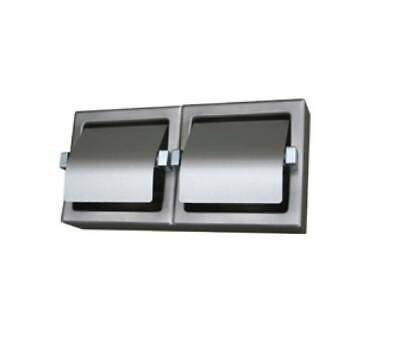 ML263-SM Metlam Surface Mount Double Toilet Roll Holder Stainless Steel, Bright