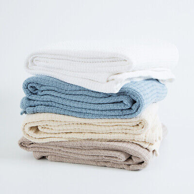 New Hilton Knit Weave 360gsm Cotton Blanket